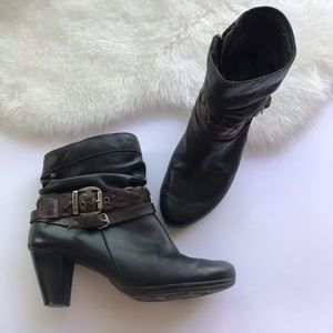 Pikolinos Leather Strap Ankle Booties Size 38